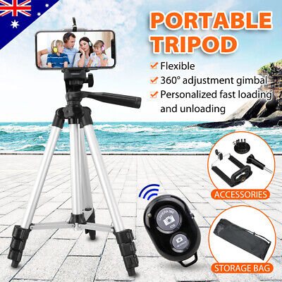 AU17.95 • Buy Professional Camera Tripod Stand Mount + Phone Holder For Phone IPhone Samsung