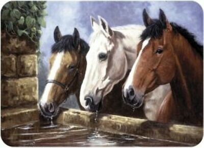 £15.99 • Buy Three Of A Kind Horses Tuftop Worktop Saver 40x30cm Glass Chopping Board