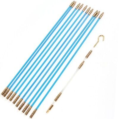 £10.21 • Buy ELECTRICIANS CABLE ACCESS KIT Push Pull Draw Rods Cavity Wall Floorboard Wire UK