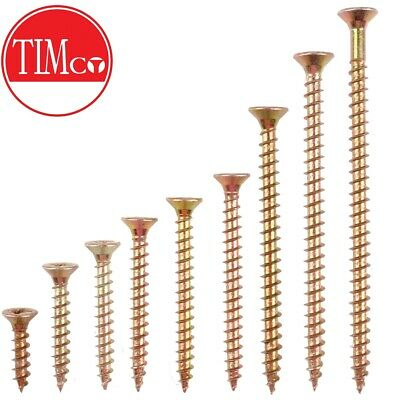 £2.52 • Buy Size M4.5 CHIPBOARD SCREWS Woodscrew Drill Construction Timber Plywood PZ 3 Head