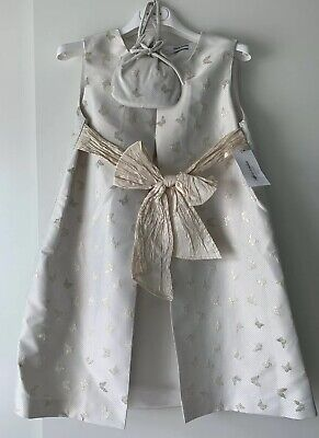 £89.99 • Buy Marie Amelie Holy Communion, Bridesmaid Dress White/ Gold Butterfly + Bag Age 10