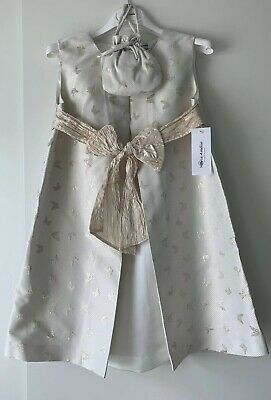 £89.99 • Buy Marie Amelie Holy Communion, Bridesmaid Dress White/ Gold Butterfly + Bag Age 8