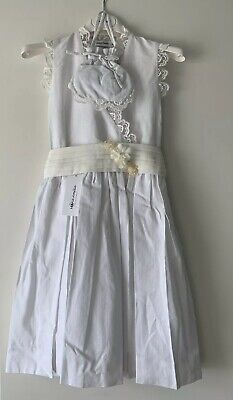 £84.99 • Buy Marie Amelie Holy Communion, Bridesmaid Dress White Lace With Flower + Bag Age 8