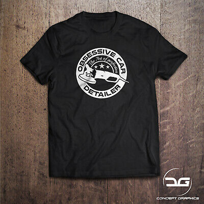 Obsessive Car Detailer Funny Novelty Car Valeting Cleaning T-Shirt Birthday Gift • 11.99£