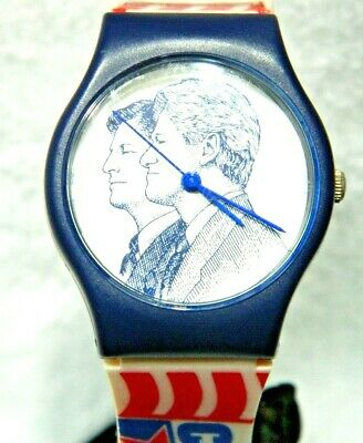 £20.58 • Buy CLINTON/GORE, 1996 Politician  MEN'S CHARACTER WATCH,1972
