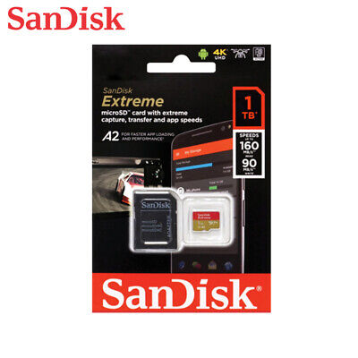 $361.56 • Buy SanDisk 1TB Extreme A2 UHS-I U3 V30 MicroSDXC Card For 4K HD Videos W/Tracking