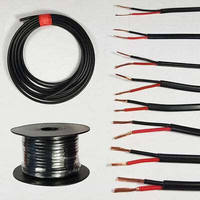 5m Tri rated Black 29amp 2.5mm panel wire car van 12v automotive dc loom cable