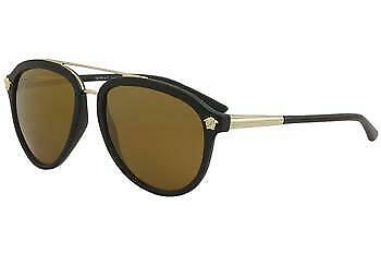 fb2e4ce39589e Versace Men s VE4341 VE 4341 5122 6H Matte Black Fashion Pilot Sunglasses  58mm •