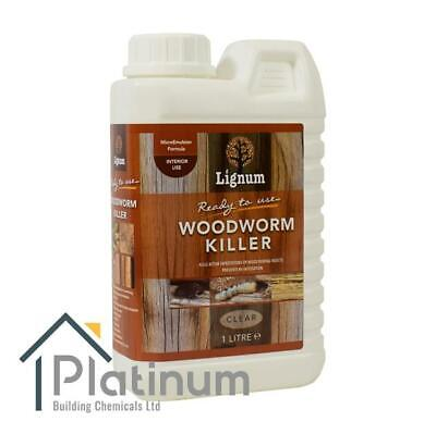 LIGNUM Woodworm Killer Spray 1L   Ready To Use Timber Wood Treatment Insecticide • 12.95£