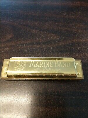 $55 • Buy Marine Band Gold Harmonica (C) Limited Edition (1896-1996) By M. Hohner
