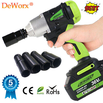 View Details Fast Chagre 36VF 6.0Ah Electric Cordless Impact Wrench Power Gun Driver Tool Set • 73.53£