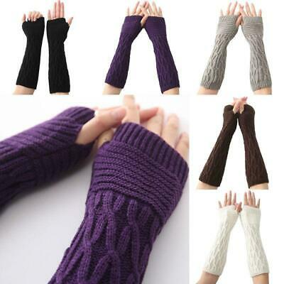 AU3.98 • Buy Stretchy Arm Warmers Long Fingerless Gloves Fashion Mittens Women Clothing JA