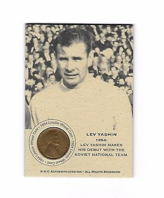 1 Only  RARE COIN CARD  - LEV YASHIN 1954  WITH CLASSY PROTECTOR • 15.06£