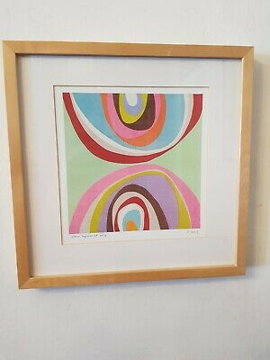 Framed Psychedelic Circle IKEA Print (C) • 21.50£