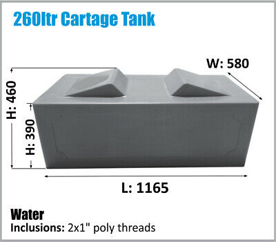 AU400 • Buy 260 Ltr Rv Ute Caravan Cartage Water Tank Oz Made Ask For Freight Price.