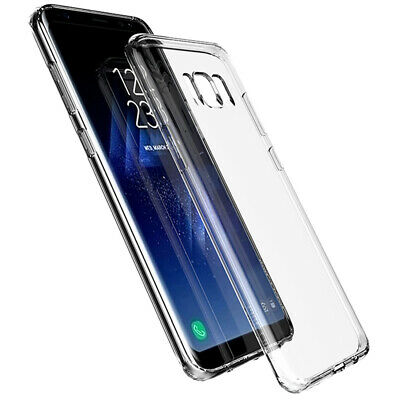AU1.99 • Buy Clear Back Cover Premium Rubber Case Protector For Samsung Galaxy S8 S9 Plus