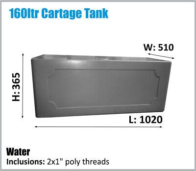 AU285 • Buy 160ltr Rv Ute Trayback Truck Cartage Water Tank Oz Made Ask Freight Price.