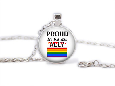 £1.38 • Buy Gay Pride LGBT Equality Glass Dome Tibet Silver Chain Pendant Necklace Jewelry