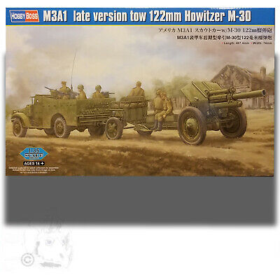 $76.99 • Buy Trumpeter 1/35 M3a1 White Scout Car (late Version) Tow 122mm Howitzer M-30 Kit