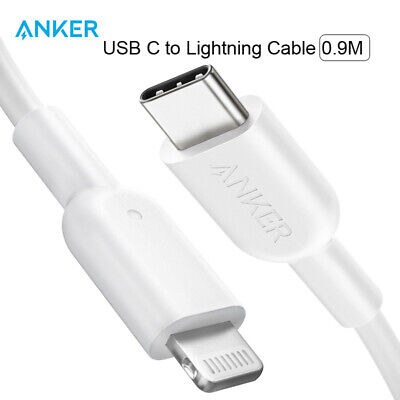 AU27.99 • Buy Anker USB C To Lightning Cable With MFi Certified Powerline II For IPhone X 90cm