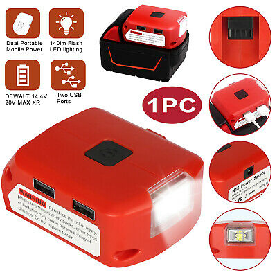 $22.48 • Buy Battery Charger USB Power Extended Adapter W/LED For Milwaukee M18/XC 48-11-1812
