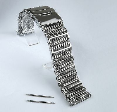 $ CDN50.54 • Buy 22mm Heavy Shark Mesh Polished Stainless Steel 4 SEIKO 7S26,SKX007,SKX009,SKX011