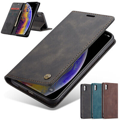 AU9.98 • Buy For IPhone SE 8 7 Plus XR XS Max X Case Magnetic Leather Wallet Card Stand Cover