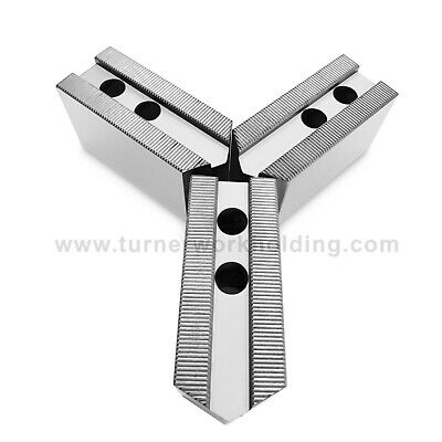AU37.55 • Buy Soft Jaw Set (3 Pcs) For 6  Kitagawa B206 Samchully Chuck- 2  Ht, Steel, Pointed