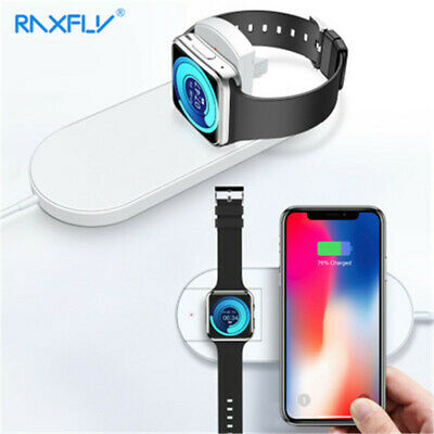 $ CDN26.73 • Buy 2 In1 Wireless Fast Charger Charging For IPhone XR XS Max Apple Watch Series 4/3
