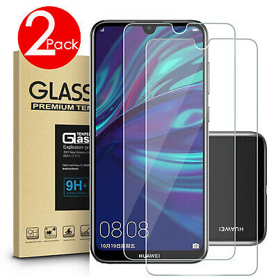 AU4.99 • Buy 2 PACK Premium Tempered Glass Screen Protector HUAWEI Y7 Pro Y5 Y9 2019 Y6 2018