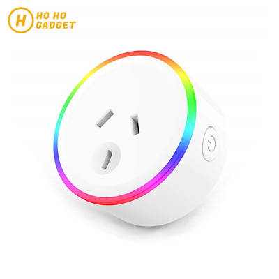 AU23.95 • Buy Mini RGB LED Wifi Smart Plug Socket Outlet Adaptor Amazon Alexa Google Home 10A