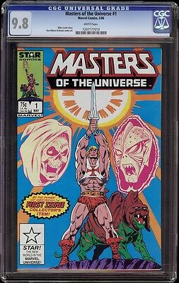 $295 • Buy Masters Of The Universe # 1 CGC 9.8 White (Marvel 1986) He-Man & MOTU Start