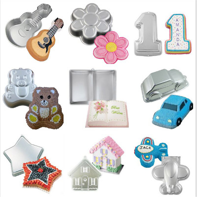 3D Giant Open Book Cake Fondant Baking Pan Decorate Mould Party Tin Kitchen LC • 12.99£