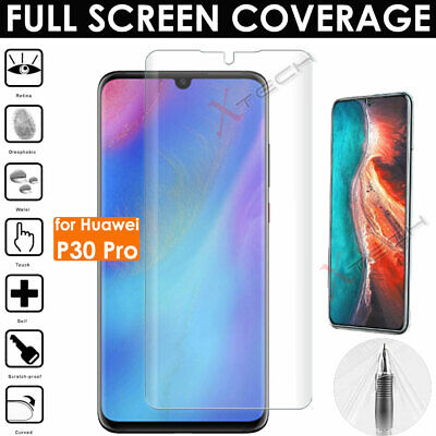 1x FULL SCREEN Face Curved Fit TPU Screen Protectors Cover For Huawei P30 Pro • 1.79£