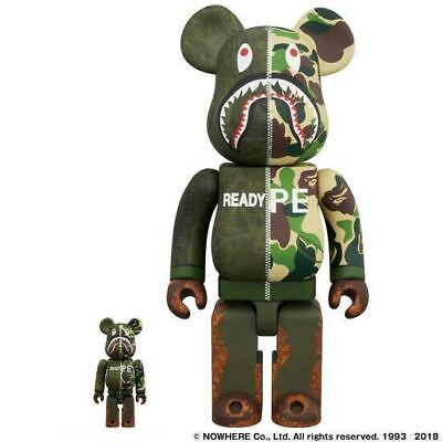 $1196.68 • Buy BAPE READYMADE MEDICOM TOY400%+100% Set BE@RBRICK 2018 F/S