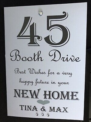Handmade Personalised New Home Card 1st Home Card Any Name Address Can Be Added • 3£