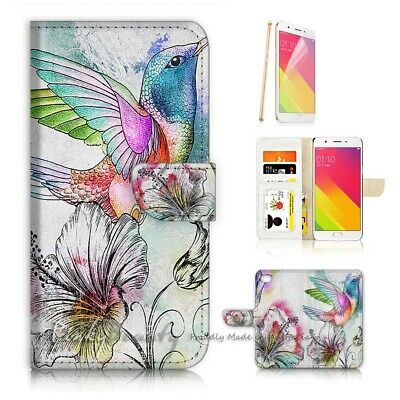 AU12.99 • Buy ( For Oppo A57 ) Wallet Case Cover P21745 Bird Flower