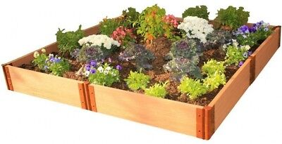 Raised Garden Bed Kit 8 Ft. X 8 Ft. X 11 In. Square Classic Sienna Composite • 246.10£