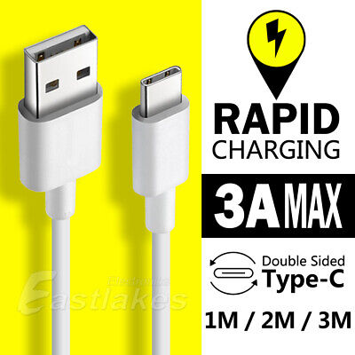 AU3.99 • Buy USB-C Rapid Charging USB Type-C Cable For Samsung S21 S20 S10 S9 Google SONY