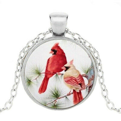 £1.84 • Buy Northern Cardinal Photo Tibet Silver Cabochon Glass Pendant Chain Necklace