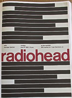 $28 • Buy Radiohead Poster Reprint For 2008 Chicago Ill Concert 14x10 Unsigned