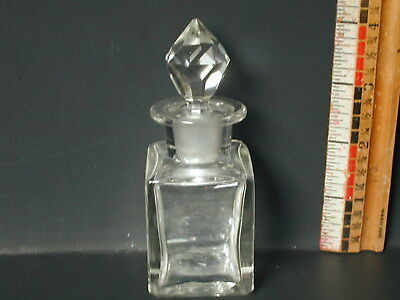 $30 • Buy Mold Blown Glass Perfume Bottle With A Married Stopper