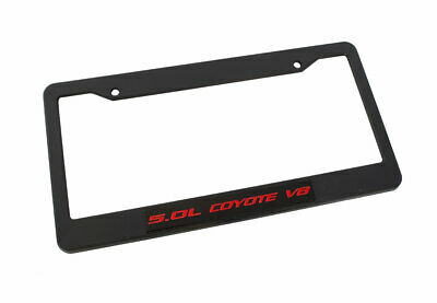 2011-2018 Ford Mustang GT & F150 5.0 Coyote V8 Emblem Black License Plate Frame • 17.01$
