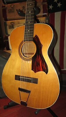 $ CDN1355.19 • Buy Vintage Circa 1964 Silvertone Acoustic 12 String Leadbelly Natural W/ Soft Case