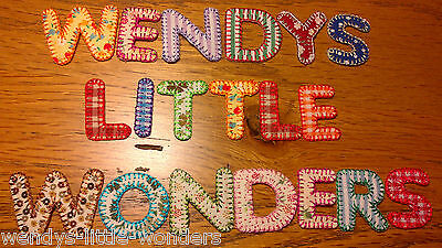 £1.49 • Buy Material Fabric Iron On Alphabet Letters Embroidered Blanket Stitch Any Names