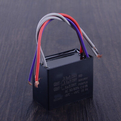 AU8 • Buy CBB61 Capacitor 2.5uF + 3.5uF + 4uF 5 Wire 250VAC Capacitor Fit For Ceiling Fan