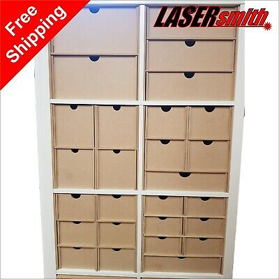 Ikea Kallax Storage Solutions For Craft Crafters Paper Ribbon Card Decoupage Etc • 21.95£