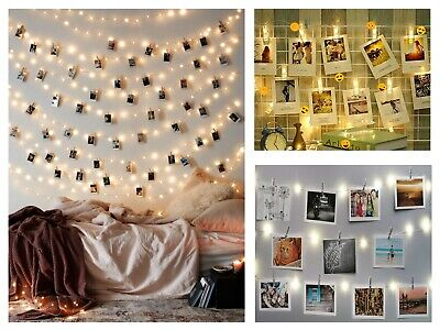 36 LED Photo Clip Peg String Lights Battery Operated Home Party Decor • 4.49£
