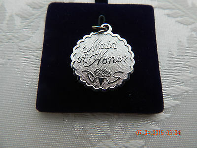 $25 • Buy Vintage Lamode Sterling Silver Round  Maid Of Honor  Charm