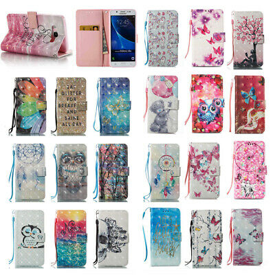$ CDN6.29 • Buy Pattern Leather Wallet Flip Phone Case Cover For Samsung Galaxy S7 Edge/S8+/S9+